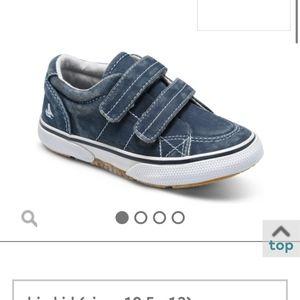 Baby sperry top-sider halyard hook & loop sneaker